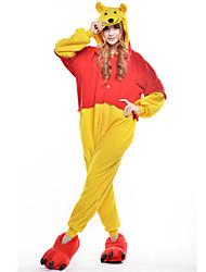 Kigurumi Pijamas New Cosplay® / Urso / Guaxinim Malha Collant/Pijama Macacão Festival/Celebração Pijamas Animal Amarelo MiscelâneaLã