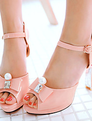Women's Shoes Patent Leather/Spool Heels/Platform/Sling back/Open Toe Sandals Wedding Shoes/Party & Evening/Dress