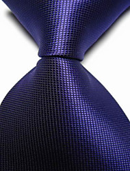 Corbata(Gris Oscuro,Poliéster)-Cuadrícula