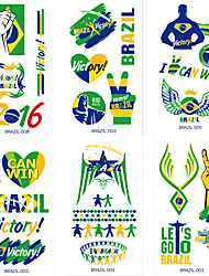 7PCS 2016 Brazil The Olympic Games Tattoo Stickers Face Against