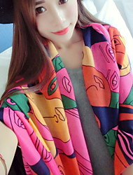 Mask Pattern  Rainbow Color Printing Cotton Scarf Shawl Sunscreen Scarves