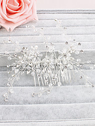 Women's Crystal Headpiece-Wedding / Special Occasion / Casual / Office & Career / Outdoor Hair Combs 1 Piece Clear