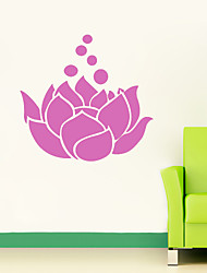 4100 Fasional Flower Lotus DIY Art Wall Sticker For Vinilos Paredes Vinyl Removable Paper Home Decor