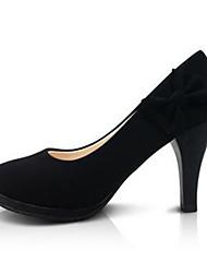 Calçados Femininos-Saltos-Saltos-Salto Agulha-Preto-Sintético-Social