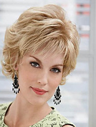 Short Synthetic Wigs Extensions Blonde Women Lady Wigs