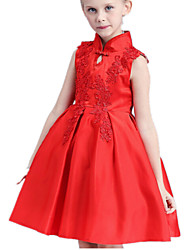 Girl's Dress,Cotton / Polyester Summer Red