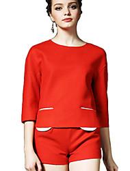 Women's 2Pcs Half Sleeve Top Fashion Shorts Suit