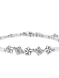 Bracelet Charmes pour Bracelets / Bracelets Wrap Argent sterling Soirée / Quotidien / Décontracté Bijoux Cadeau Blanc,1pc