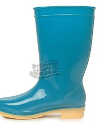 Women's Spring / Summer / Fall / Winter Rain Boots Rubber Outdoor Flat Heel Blue / Green / Purple