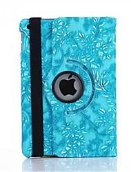 360 graus de uva de grãos de couro pu capinha da tampa da aleta para iPad Mini 1/2/3 (cores sortidas)