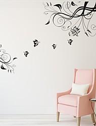 Romance / De moda / Florales Pegatinas de pared Calcomanías de Aviones para Pared,PVC S:62*55cm / M:105*93cm/ L:134*120cm