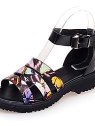 Zapatos de mujer-Tacón Bajo-Plataforma / Gladiador-Sandalias-Oficina y Trabajo / Vestido / Casual-Materiales Personalizados / Semicuero-