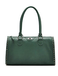 Women PU Duffel Shoulder Bag / Tote-Green