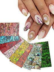 New 1pcs Natural Shell Adhesive 3d Nail Art Stickers Decals DIY UV Gel Polish Design Nail Tips Decoration Tools
