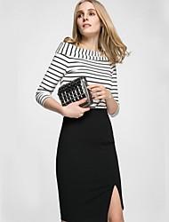 Women's Solid Black Skirts,Work Knee-length