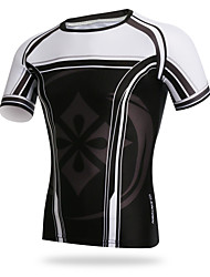 XINTOWN Cycling Mens Tight T-shirt Breathable Tops