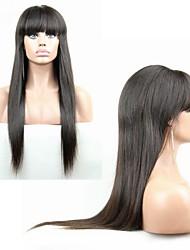 """brasilianisches reines Haar gerade glueless volle Spitze-Menschenhaarperücken für schwarze Frauen 10 """"-24"""" gerade Spitze-Front Perücken"""