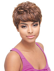 Charming Short Wavy Brown African American Women's Synthetic Hair Wigs