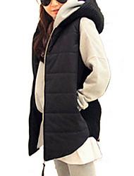 Manteau Rembourré Aux femmes Sans Manches Simple / Street Chic Coton
