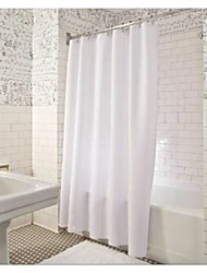 "Pure White Shower Curtains W71""×L71"""