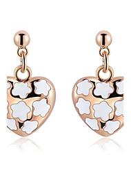 Ohrring Tropfen-Ohrringe Schmuck 1 Stück Rose Gold überzogen Damen Rotgold