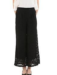 Pantalon Aux femmes Ample Street Chic Spandex Non Elastique