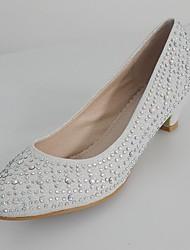 Women's Spring / Summer / Fall / Winter Basic Pump Glitter Wedding / Dress / Party & Evening Low Heel Crystal / Sparkling GlitterRed /