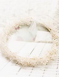 PreservedFreshFlower Babysbreath Basketwork Headpiece-Wedding / Special Occasion / Outdoor Wreaths 1 Piece
