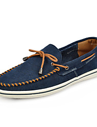 Serene Men's Shoes Office & Career / Casual Suede Boat Shoes Blue / Brown