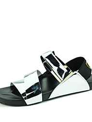 Men's Sandals Casual/Beach/Swimming pool PU Leather Fashion Sandals Black/White/Gold/Silver 39-44