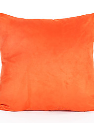 Orange Color Suede Cushion Cover