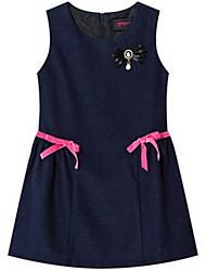 Girl's Blue Dress Cotton Summer / Spring