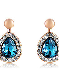 Earring Drop Earrings Jewelry Women Gemstone & Crystal / Rose Gold Plated 1pc Blue / Rose Gold
