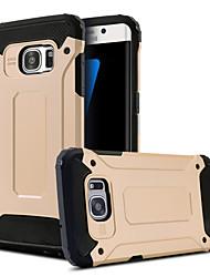 Para Samsung Galaxy S7 Edge Antichoque / Com Suporte Capinha Capa Traseira Capinha Armadura PC Samsung S7 edge / S7