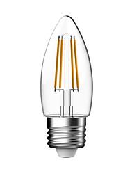 1 pcs kwb E26/E27 4W 4 COB 400 lm Warm White C35 edison Vintage LED Filament Bulbs AC 85-265 V No flash