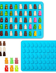 50 Cavity Silicone Bear Shape Baking Ice Cube Tray Candy Chocolate Molds Making Gummy
