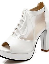 Women's Shoes Chunky Heel Heels / Peep Toe Heels Wedding / Party & Evening / Dress Black / Green / Pink / White