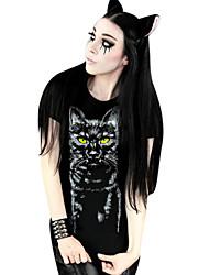 Bluse / Hemd Klassische/Traditionelle Lolita Lolita Cosplay Lolita Kleider Druck Kurzarm Lolita T-shirt Für Lycra