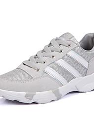 Scarpe Donna-Sneakers alla moda-Tempo libero / Casual / Sportivo-Comoda-Piatto-Tessuto-Nero / Rosso / Grigio