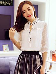 Wake Up ® Mujer Escote Chino Manga 3/4 Camisa y blusa Blanco-XFS16038