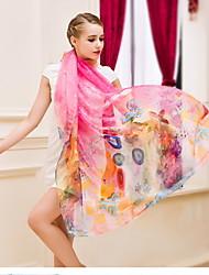 Spring And Autumn Scarf Super Long Scarf Printed Chiffon Female Sun Beach Towel