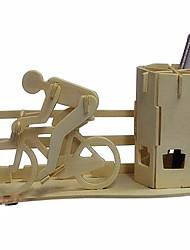 Quebra-cabeças Quebra-Cabeças 3D / Quebra-Cabeças de Madeira Blocos de construção DIY Brinquedos Moto Madeira BegeModelo e Blocos de