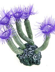 Purple Aquarium Fish Tank Silicone Artificial Sea Plant Coral Flower Ornament