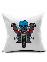 2016 New Arrival Skull Cotton/Linen Pillow Cover , Nature Modern/Contemporary Pillow Linen Cushion