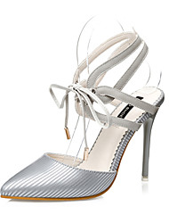 Women's Shoes  Stiletto Heel Heels / Pointed Toe / Closed Toe Heels Casual Black / Pink / White / Gray