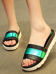 Women's Shoes Patchwork Leatherette Platform Flip Flops / Comfort Sandals / Flip-Flops Casual