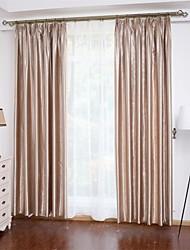 2 шторы Окно Лечение Неоклассицизм , Твердый Спальня Полиэстер материал Шторы портьеры Украшение дома For Окно
