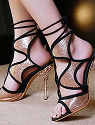 Women's Shoes Heel Heels / Peep Toe Sandals / Heels Party & Evening / Dress / Casual Gold/L-28