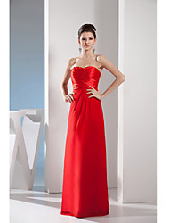 Formal Evening Dress Sheath / Column Sweetheart Floor-length Chiffon / Charmeuse with Side Draping