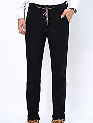 Spring summer 2016 new men's casual pants cotton trousers are Korean slim jeans stretch tide